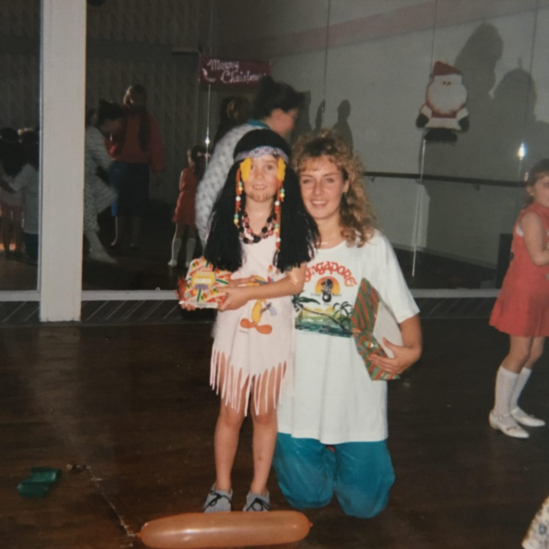 Donna Ford1988 Christmas party Indian