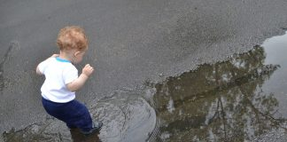 child puddle