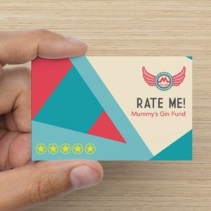 Rate Me Card - front