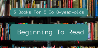 5 books 5-8yo beginning to read