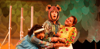 Rose-Marie Christian, Raj Swamy and Mehavi Patel in Three Sat Under the Banyan Tree. Credit Craig Fuller